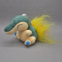 """Wholesale Pokemon Plush Cyndaquil - New Fun 4"""" Cyndaquil Poke Doll Keychains Pocket Monsters Anime Collectible Plush Dolls Kid's Gifts Soft Stuffed Toys"""