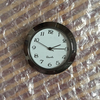 Wholesale Clock Guns - 1 7 16 plastic black gun clock inserts arabic dial PC21S movement and japanese battery plastic fit ups with rear mounting 35mm