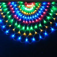 perde telleri toptan satış-3 m 492 LED Tavuskuşu LED Işık Dize Noel Düğün Süslemeleri Perde Arka Plan Peri Işık bakır tel led 220 V / 110 V