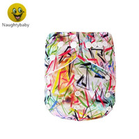 Wholesale diaper snaps for sale - Group buy 2016 Best Diapers Cartoon Baby Diapers Nappies without Inserts Double Row Snaps Prints baby Diapers
