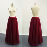 Wholesale Taffeta Pleated Skirt - Bridesmaid Tutu Skirts A Line Adult Burgundy 2016 Fashion Skirt New Arrival Party Casual Skirt Gowns