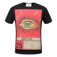 Wholesale Newest Science - 2017 Summer O-Neck T-shirt Newest Style Science Fiction Characters Eye Printed T Shirt Men Brand Famous Luxury Clothing 2XL