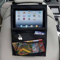Wholesale Seat Back Storage Bags - Baby Kids Car Seat iPad Hanging Bag Auto Back Car Seat Organizer Holder Multi-Pocket Travel Storage Hanging DHL free