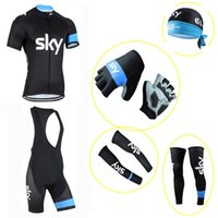 SKY Cycling Jersey Pro Team Bicycle Roupa Ciclismo Maillot Ciclo Vestuário MTB mountain Racing camisas Bike China Cheap set E2304