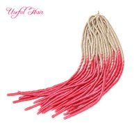 Wholesale Synthetic Hair Extensions White - WHITE PINK OMBRE MIX COLOR FAUX LOCS SofT braid in bundles dreadLOCKS SYNTHETIC braiding crochet braids HAIR MARLEY hair extensions JUMBO