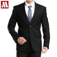 Wholesale Top Mens Business Suits - Wholesale- New Arrive mens fashion high quality suit set groom business suit men wedding Dress Suits set Tops + pants Asia XS-3XL MTS135