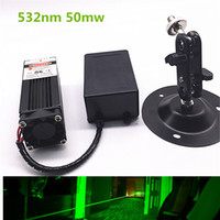 Wholesale Laser Green Module - Wholesale-50mw 532nm Green Laser Module 12V DC Input Room Escape  Maze props  Bar dance Lamp