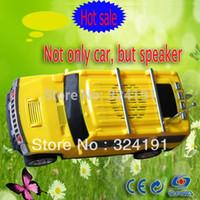 Wholesale Mp5 Model - Wholesale- 2017 Cheapest hot sale USB big FM Radio car speakers , Portable Car model Mp3 MP5 speaker With TF card ,