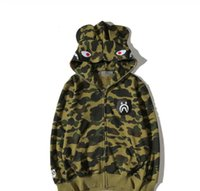 Wholesale Helmet Standard - Foreign trade clothing tide brand camouflage shark helmet hoodie camouflage hooded sweater