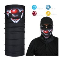 Al por mayor- Joker Smile Black Face Shield Bandana