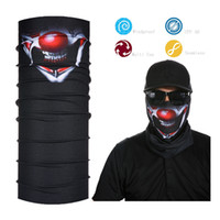 Atacado- Joker Smile Black Face Shield Bandana