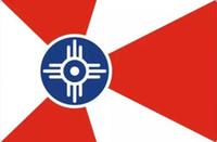 Wholesale Usa Cities - USA Kansas Wichita City Flag 3ft x 5ft Polyester Banner Flying 150* 90cm Custom flag outdoor