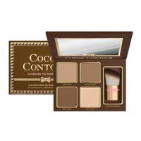 48 lidschatten großhandel-2017 marke COCOA Contour Kit Textmarker Palette Nude Farbe Kosmetik Gesicht Concealer Makeup Schokolade Lidschatten mit Kontur Buki Pinsel 48 p