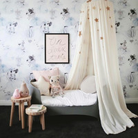 Wholesale Curtains Kid - Wholesale-Children Hung Dome Bed Curtain Tent Mosquito Net Play Tent Hanging Kids Teepees Play House For Baby Room Tipi Party Decoration