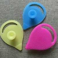 Wholesale Scrubbing Pads - Soft Face Cleaning Brush Facial Cleansing Exfoliating Brush Infant Baby Soft Silicone Wash Face Pad Skin SPA Scrub Cleanser Tool