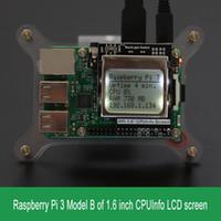 ingrosso interruttore lcd-Freeshipping Raspberry Pi 3 Modello B CPU Info Schermo LCD 1,6 pollici 84x48 con interruttore retroilluminazione compatibile Pi2 / 1 / Orange Pi
