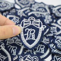 Wholesale Clothing For School - School Badge style patch for clothing iron embroidered patches applique iron on patches sewing accessories for clothes 10pcs lot