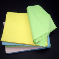 Wholesale Individual Wipes - 220gsm 175x145mm Individual Packing Colorful eyeglasses sunglasses wiping cloth glasses microfiber cleaning cloth Free Shipping WA2141
