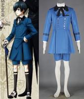 kahya kostümleri toptan satış-Siyah Butler Ciel Phantomhive cosplay Cadılar Bayramı Kostümleri