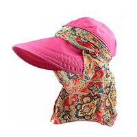 Wholesale Women Summer Anti Uv Hat - Fashion Face Protection Sun Hat Summer Foldable Hats For Women Anti-UV Wide Big Brim Adjustable Women Hat Summer