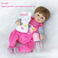 Wholesale Dolls Bjd For Sale - 18 Inch Soft Silicone Reborn Dolls Realistic Newborn Baby Girl For Sale Lifelike Baby Alive Dolls Kids Playmate