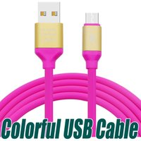 Wholesale Colorful Mobile - 1.3M 2A Fast Charging Micro USB Phone Charger Cables Colorful Data Sync Cords For Samsung Android Mobile Phones