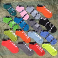 Wholesale Hot Swim Shorts Women - hot love vs Pink Socks Fashion Women Sports Socks Victoria short Sports socks secrets boat ankle sock free shipping