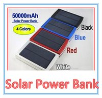 Wholesale Solar Panel Battery Mah - 50000 mah Solar Charger and Battery 50000mAh Solar Panel Dual Charging Ports portable power bank for All Cell Phone table PC MP3