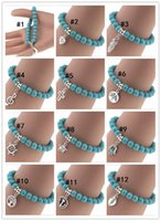 Wholesale Wholesale Beaded Bras - Manufacturers selling in Europe and America to restore ancient ways Bohemian personality pendant turquoise bracelets beaded string chain bra