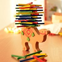Wholesale Wholesale Camel Toy - Balancing Blocks Wooden Camel Horse Toy Child Puzzle Toys With Eco Friendly Paint Color Sticks Trial Patience Parenting Game 7 5xq I1