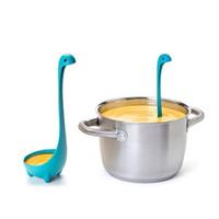 Wholesale Ladle Stand - new standing Ladle Vertical Long Handle Plastic Spoon Dinosaurios Loch Monster Spoons Cucharas Largas Louche De Cuisine h60