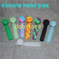 Wholesale Cheapest Pipe Tobacco Free Shipping - wholesale Cheapest silicone smoke hand pipe small water smoking pipe mini tobacco pipe DHL shipping free