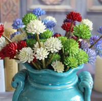 Wholesale Red Blossom Sales - Hot Sale Lotus Artifical Flower Vivid Succulent Plants Blossom Festive Home Garden Decorative Flowers 4 colors
