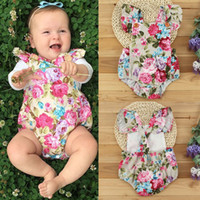 girls lace tops collar NZ - Newborn Infant cute Baby Girls rompers Casual Party flowers girl Bodysuit romper sweet Jumpsuit good quality child top Clothes lace Outfits