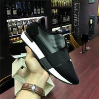 sapatos de design de marca homens venda por atacado-2017 apartamentos de luxo de design da marca do desenhista do couro genuíno HOMENS SAPATILHAS MENS CORREDORES Skate mulheres sapatos casuais mulheres