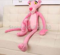 juguete de cosas de pantera rosa al por mayor-Venta al por mayor- Nuevo 2016 Lovely Naughty Pink Panther Película de juguete de peluche Muñeca de peluche 40 CM Niño Niños Juguete Niños Chicas Regalo