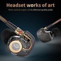Wholesale Copper Headphones - 100% Original KZ ATE Copper Driver Ear Hook 3.5mm In Ear Earphones HIFI Metal Stereo Sport Headphones Super Bass Noise Isolating