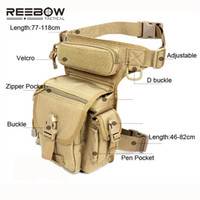 Wholesale Swat Drop Leg - abric cell phone holders Outdoor Multifunctional Tactical Drop Leg Bag SWAT Hunting Tool Waist Pack Motorcycle Sports Ride Men 1000D CORD...