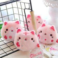Wholesale Sakura Plush - 4pcs lot 8cm Lovely Sakura Boots Cat Plush Sandbags Cute Staffed Animal Gift Doll Nice Decoration Kawaii Pendant