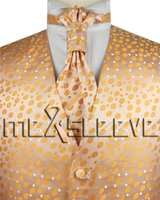 Wholesale Cheap Ascots For Men - hot sale cheap men's waistcoat for party wedding(vest+ascot tie+handkerchief+cufflinks)