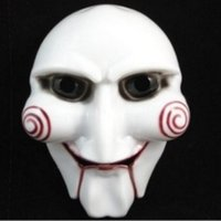 Wholesale horror saw face - Halloween Party Mask Scary Full Face Masquerade Saw Puppet Halloween Gift Costume Fancy Ball Masks for Christmas Day Men Adults