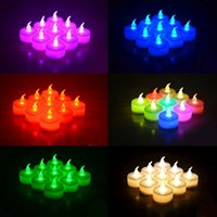Wholesale Electronic Candle Light Sensor - LED Candles Night Light Battery Powered Colorful Candle Simulation Light Sensor Flameless Electronic Candle For Birthday Wedding Party YFA53