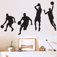 pegatinas de baloncesto al por mayor-Pegatinas de pared del jugador de baloncesto Drunk Dunk Multi Function etiqueta engomada decorativa extraíble Familia de alta calidad decorar 12 9aw A R