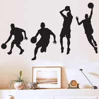 Wholesale basketball mural bedroom for sale - Group buy Wall Stickers Basketball Player Dribble Dunk Multi Function Removable Decorative Sticker High Quality Family Decorate aw A R
