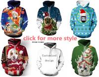 Wholesale Christmas Couple Hoodies - New Fashion Couples Men Women Unisex Merry Christmas 3D Print Hoodies Sweater Sweatshirt Jacket Pullover Top S-5XL TT1