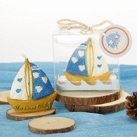 Wholesale Sailing Candles - Sailing Candle Gum Shape Bridal Resin Wedding Party Home Decor Gift Candle Creative Romantic Love Boat Candle Home Decoration