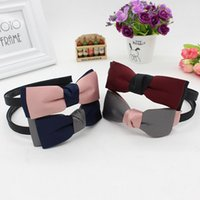 Wholesale Ladies Order Bow - Brand new New cloth hair hoop ladies double bow bow headband hair wash belt TG189 mix order 30 pieces a lot