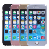 Wholesale iphone 5s front skin online - 360 Degree Front Back Full Body Protective Skin Cases For Cover iPhone s plus s Ultra Thin Cellphone case