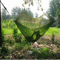 Wholesale Portable Double Hammock with Mosquito Net for Outdoor Camping Traveling