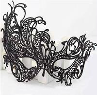 vestido de disfarce senhoras venda por atacado-Halloween Sexy Lady Máscara de Renda Masquerade Partido Recorte Preto Máscara de Olho Blinder Fancy Dress Costume Party Fantasia Cosplay